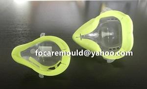 China medical mold maker bicolor Oxygen mask