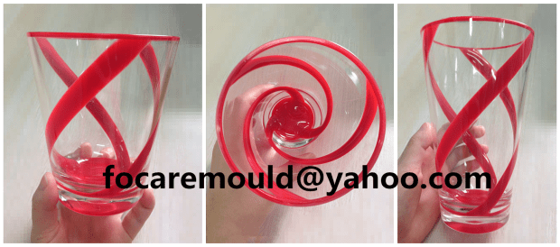 plastic maker of cup two color mold design