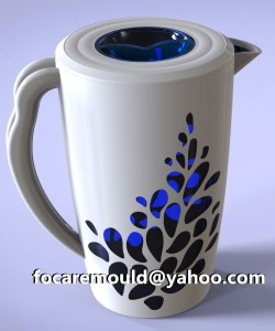 China two color water jug mold