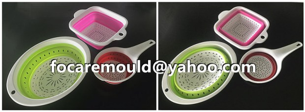 foldable strainers two color mold China