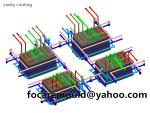 China thin wall rectangular mold design