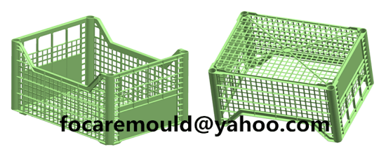 plastic molded vagetable crate design