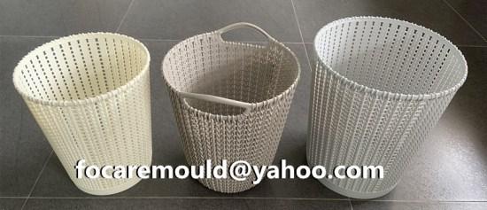 plastic laundry in rattan design
