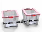 double collection bin lid mold