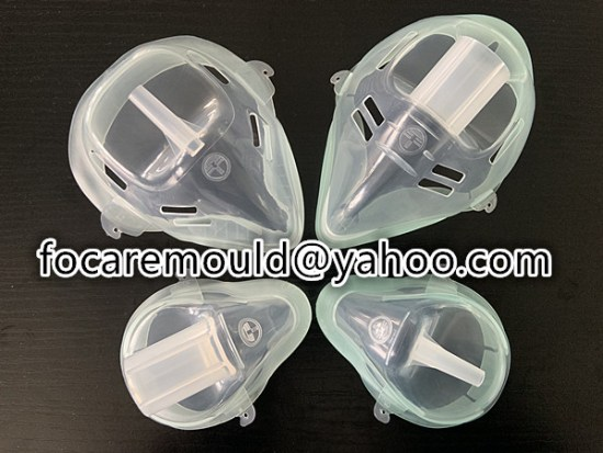 double component oxygen face mask