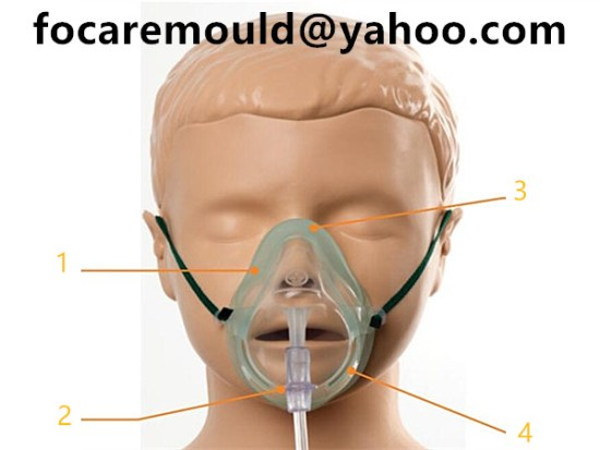 pediatric medium concentration oxygen mask mold 2k
