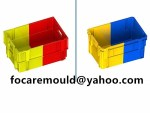 two color mold turnover box