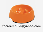 two color pet food bowl