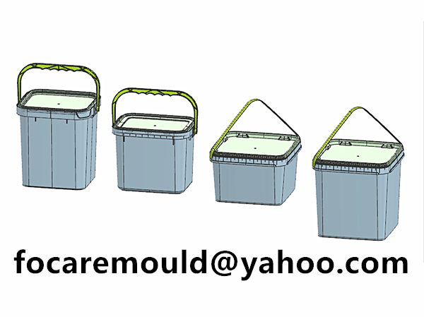 rectangular bucket paint mold