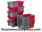 bi injection nest container box mold