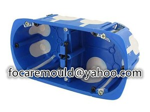 multi shot receptacle box mold