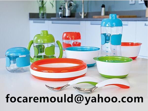 two color mold toddler feeding set