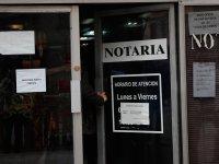 Apagón digital de las notarías de Santiago