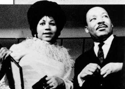 ARETHA FRANKLIN and DR.MARTIN LUTHER KING, JR., late 1960's.