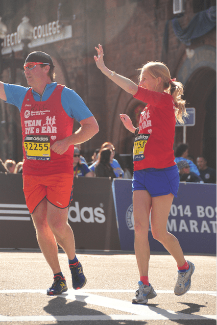 Will and Alexis at the Boston Marathon