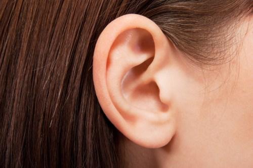 Human ear closeup
