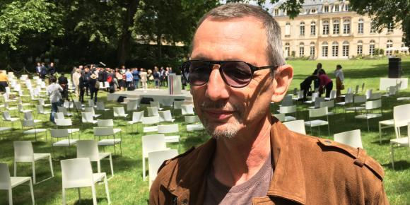 Guy dans les jardins de l'Elysée, le 29 juin 2020.