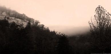 """Morning Fog"" by Rachel Cancino-Neill taken on Buffalo River Trail, AR: 2015"