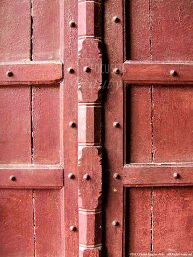 """Red Agra Doors"" by Rachel Cancino-Neill taken in Agra, India: 2010"