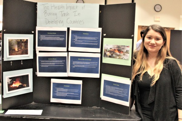 "2nd Place Poster: Stacey Ruiz, ""Health Impact of Burning Trash in Developing Countries"""