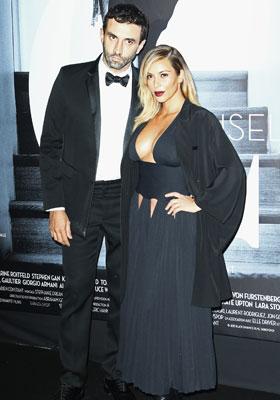 Kim Kardashian et Riccardo Tisci en Givenchy by Riccardo Tisci