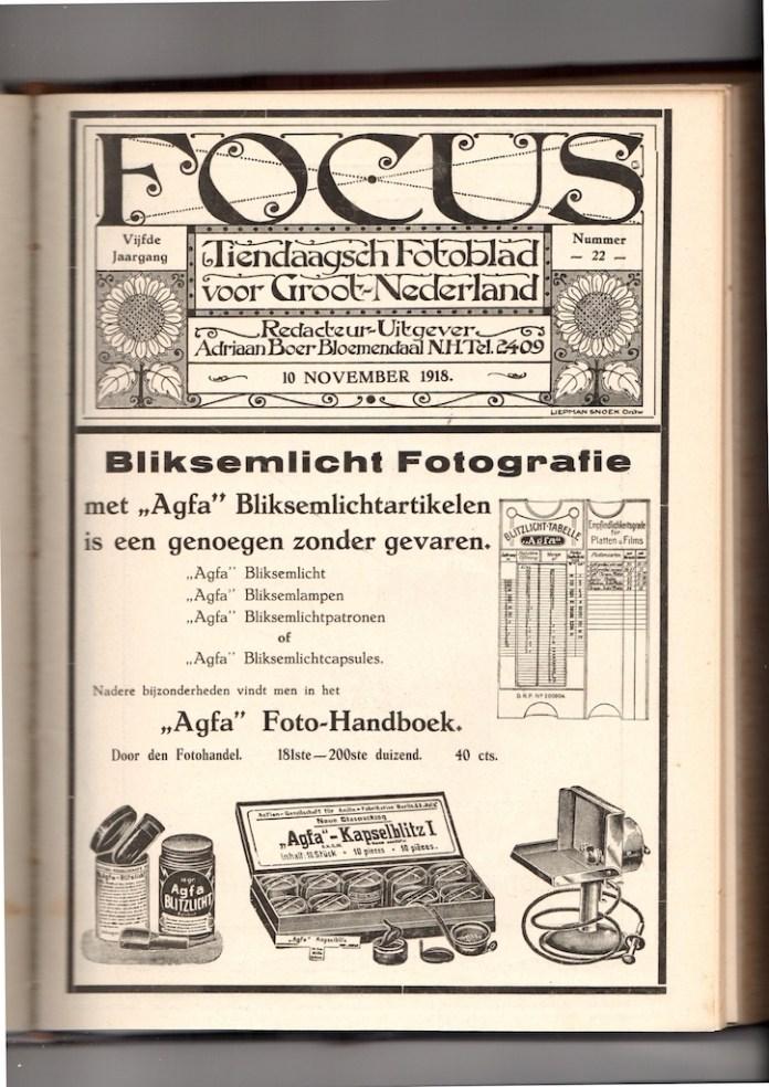 Focus Magazine fototijdschrift 10 1918 Cover
