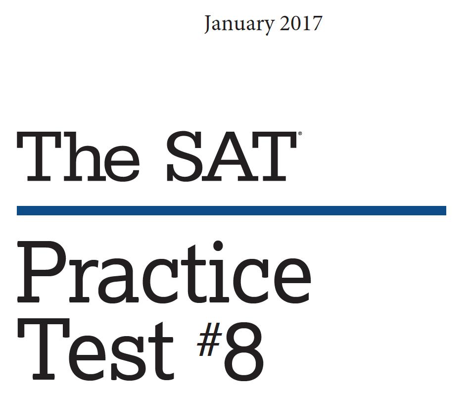 January 2017 SAT Test