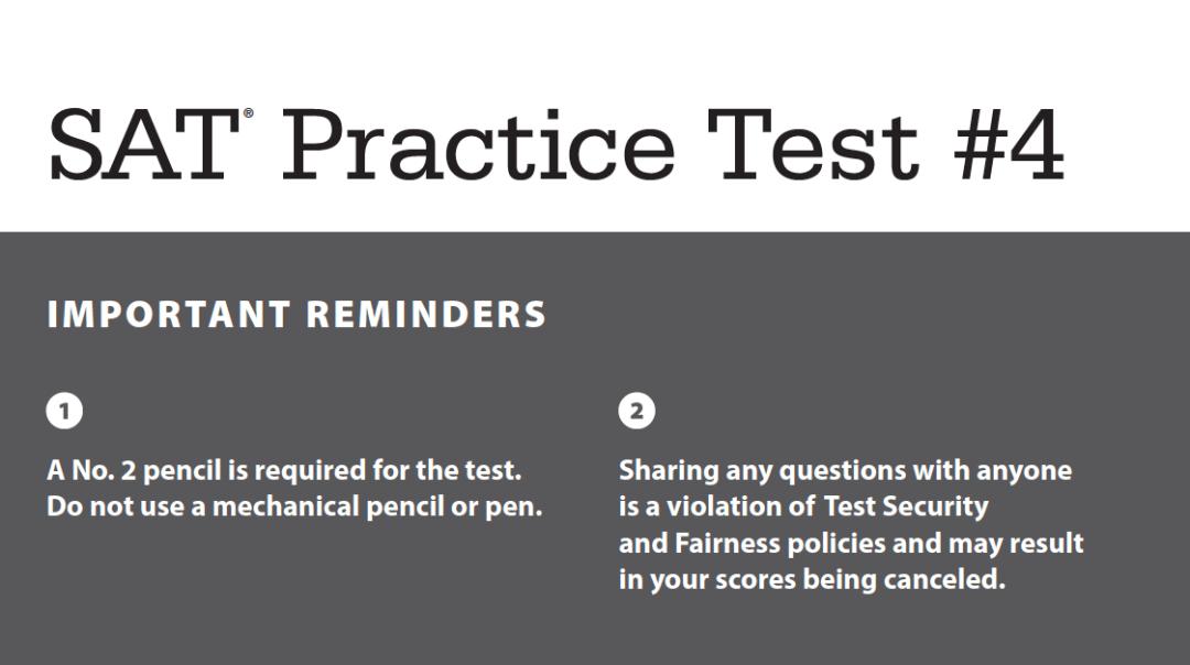 SAT Practice Test 4