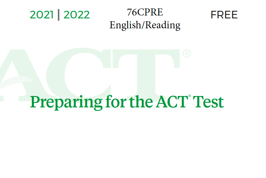 76CPRE ACT Test - English-Reading Tests