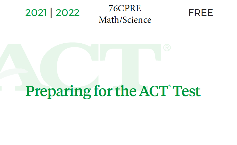 76CPRE ACT Test - Math-Science Tests