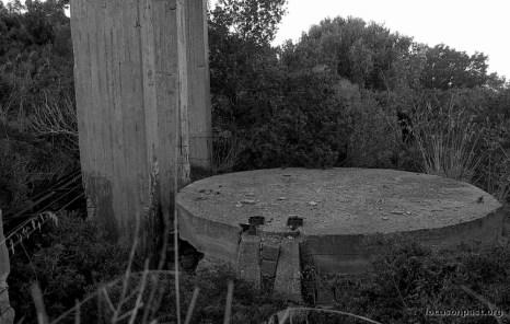 Sotto alla torre il pozzo cementato