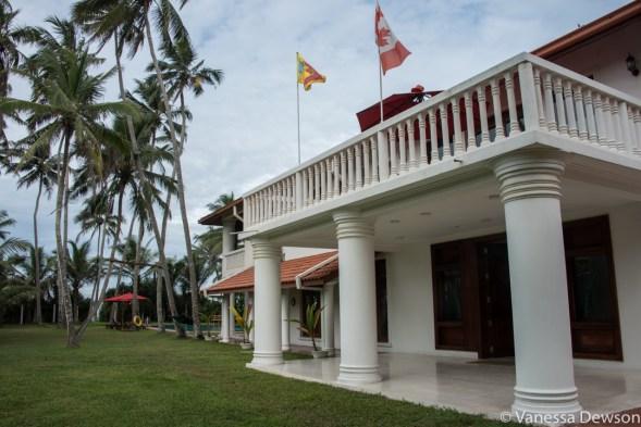 Front entrance of Palm Beach Villa, Wadduwa, Sri Lanka