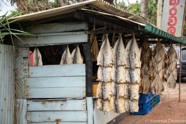 Dried fish stall, Sri Lanka