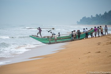 Setting out, Wadduwa Beach, Sri Lanka