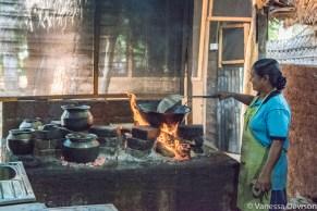 Traditional Sri Lankan cooking.