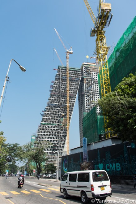 Interesting new high rise being built in Colombo