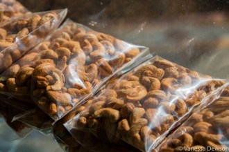 Roasted chili cashews for sale along the highway.