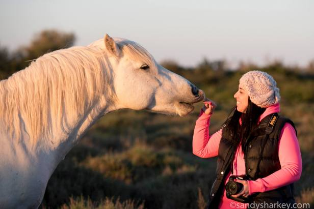 Greeting a new friend. Photo by: Sandy Sharkey