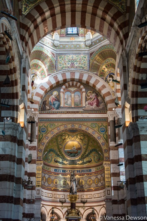 Inside Notre Dame de la Garde. Photo by: Vanessa Dewson