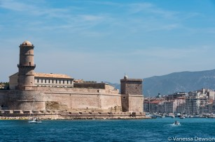 Part of the MUCEM on the left. Photo by: Vanessa Dewson