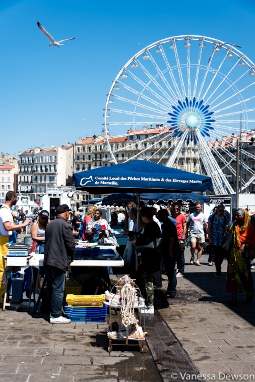 The Marseille Fish Market. Photo by: Vanessa Dewson