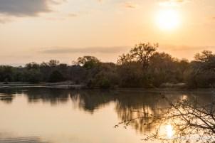 Setting sun in Kapama Game Reserve