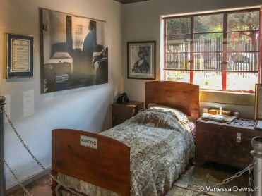 Bedroom inside Mandela's house