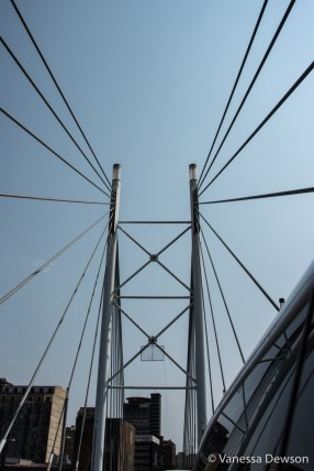 On the Nelson Mandela Bridge