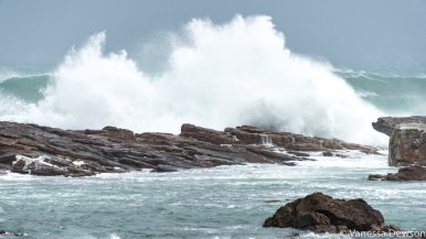 Waves crashing at the Cape of Good Hope