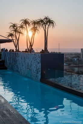 Last sunset in Namibia at the Hilton in Windhoek.