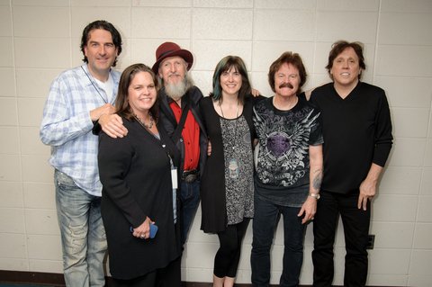 Pictured Left to Right: Producer - David Lyndon Huff, Richlyn Marketing Publicist - Nicole Cochran, Doobie Brother Patrick Simmons, Richlyn Marketing Founder - Kate Richardson, Doobie Brothers Tom Johnston, and John McFee.   Photo Credit:  Jeff White
