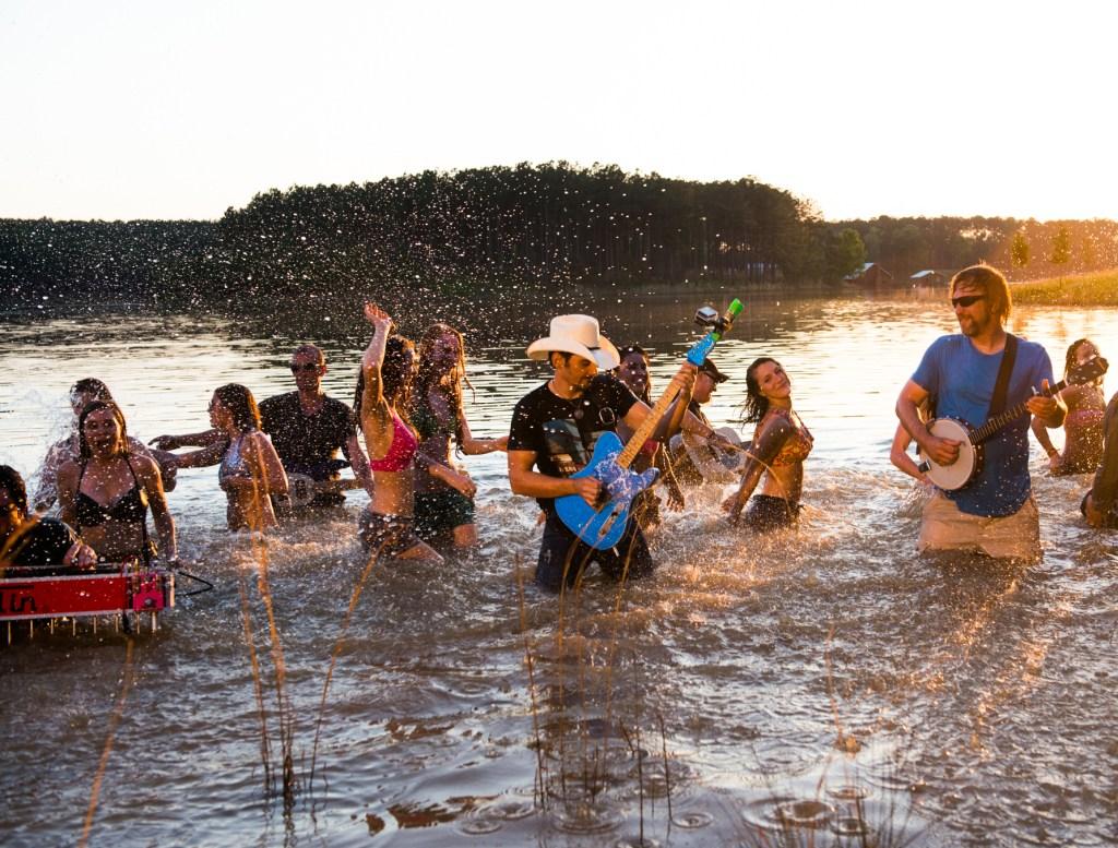 River Bank Video Shoot Brad Paisley