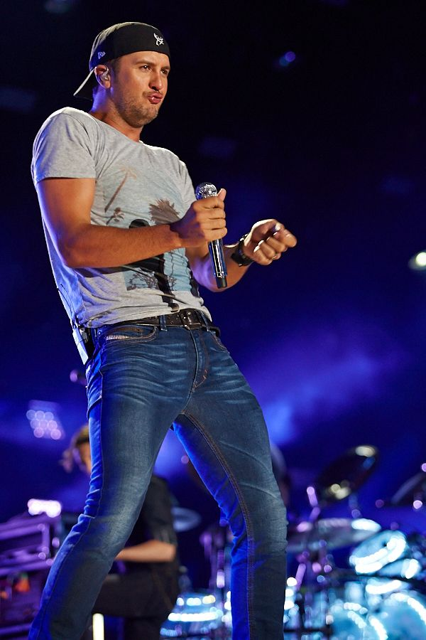 Luke Bryan performing during one of the LP Nightly Shows.