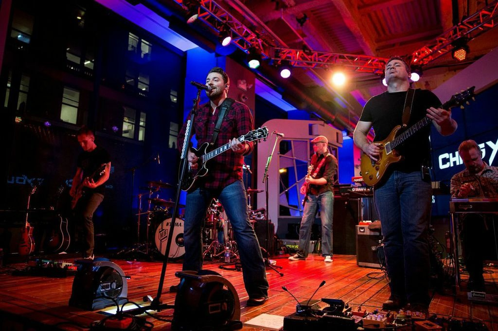 Chris Young performing as a part of the MLB Fan Cave Concert Series presented by Budweiser from the MLB Fan Cave on in New York City, New York. Photo Credit: Taylor Baucom/MLB Photos via Getty Images.